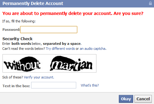 how to delete facebook account permanently with waiting 14 days