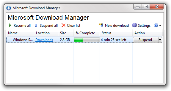 Microsoft now using Download Manager | Tecexpertz
